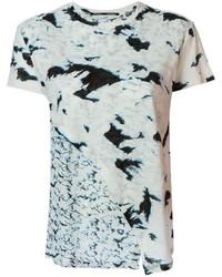 Camiseta con cuello circular estampada en blanco y negro de Proenza Schouler