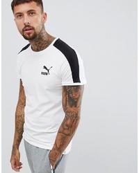 Camiseta con cuello circular estampada en blanco y negro de Puma