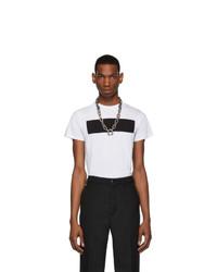 Camiseta con cuello circular estampada en blanco y negro de Random Identities