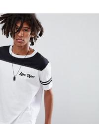 Camiseta con cuello circular estampada en blanco y negro de Sacred Hawk