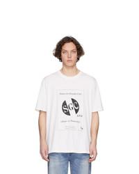 Camiseta con cuello circular estampada en blanco y negro de Stolen Girlfriends Club