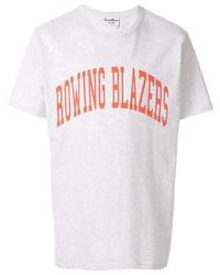 Camiseta con cuello circular estampada en blanco y rojo de ROWING BLAZERS