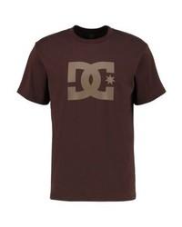 Camiseta con cuello circular estampada en marrón oscuro de DC Shoes