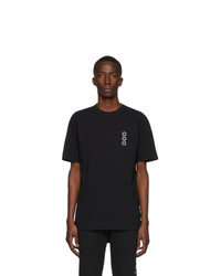 Camiseta con cuello circular estampada en negro y blanco de 1017 Alyx 9Sm