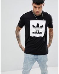 Camiseta con cuello circular estampada en negro y blanco de Adidas Skateboarding