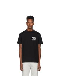 Camiseta con cuello circular estampada en negro y blanco de Aimé Leon Dore