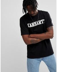 Camiseta con cuello circular estampada en negro y blanco de Carhartt WIP