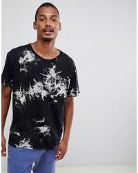 Camiseta con cuello circular estampada en negro y blanco de Dr. Denim