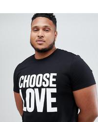 Camiseta con cuello circular estampada en negro y blanco de Help Refugees