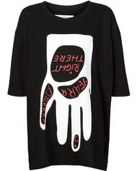 Camiseta con cuello circular estampada en negro y blanco de Henrik Vibskov