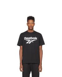 Camiseta con cuello circular estampada en negro y blanco de Reebok Classics