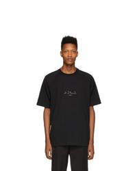 Camiseta con cuello circular estampada en negro y blanco de Song For The Mute