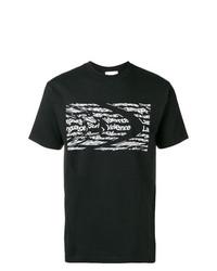 Camiseta con cuello circular estampada en negro y blanco de The Silted Company