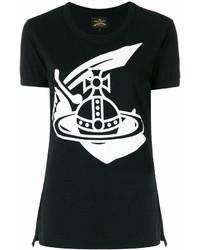 Camiseta con cuello circular estampada en negro y blanco de Vivienne Westwood