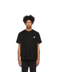 Camiseta con cuello circular estampada en negro y blanco de Wooyoungmi