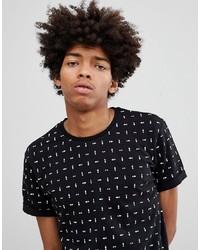 Camiseta con cuello circular estampada en negro y blanco de YOURTURN