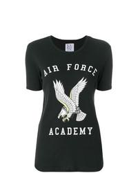 Camiseta con cuello circular estampada en negro y blanco de Zoe Karssen