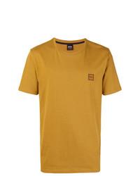 Camiseta con cuello circular estampada en tabaco de BOSS HUGO BOSS