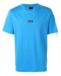 Camiseta con cuello circular estampada en turquesa de Omc