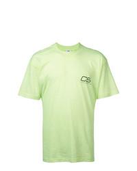Camiseta con cuello circular estampada en verde menta de Cmmn Swdn
