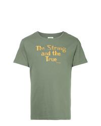 Camiseta con cuello circular estampada en verde menta de Kent & Curwen