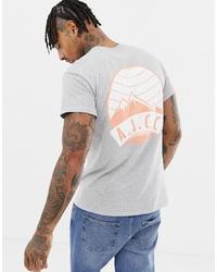 Camiseta con cuello circular estampada gris de Abuze London