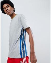 Camiseta con cuello circular estampada gris de ASOS DESIGN