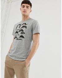 Camiseta con cuello circular estampada gris de J.Crew Mercantile