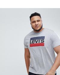 Camiseta con cuello circular estampada gris de Levi's