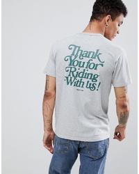 Camiseta con cuello circular estampada gris de LEVIS SKATEBOARDING