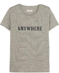 Camiseta con cuello circular estampada gris de Madewell