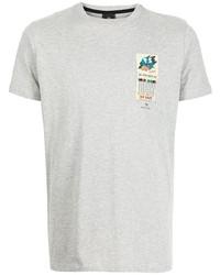 Camiseta con cuello circular estampada gris de PS Paul Smith