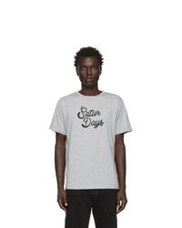 Camiseta con cuello circular estampada gris de Saturdays Nyc