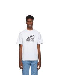 Camiseta con cuello circular estampada gris de St-Henri