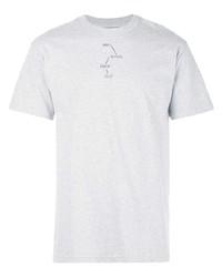 Camiseta con cuello circular estampada gris de The Celect