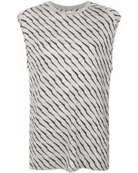 Camiseta con cuello circular estampada gris de Zoe Karssen