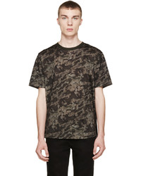 Camiseta con cuello circular estampada marrón de Dolce & Gabbana