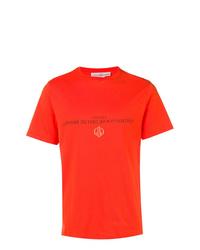 Camiseta con cuello circular estampada naranja de Golden Goose Deluxe Brand
