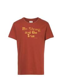 Camiseta con cuello circular estampada naranja de Kent & Curwen