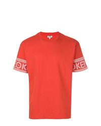 Camiseta con cuello circular estampada naranja de Kenzo
