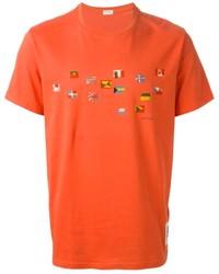 Camiseta con cuello circular estampada naranja de Paul Smith