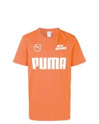 Camiseta con cuello circular estampada naranja de Puma