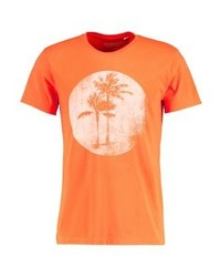 Camiseta con cuello circular estampada naranja de Ralph Lauren