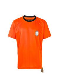 Camiseta con cuello circular estampada naranja de Sankuanz