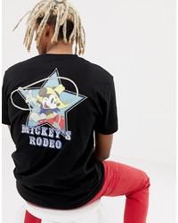 Camiseta con cuello circular estampada negra de ASOS DESIGN