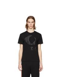 Camiseta con cuello circular estampada negra de Comme Des Garcons Play