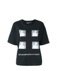 Camiseta con cuello circular estampada negra de Enfants Riches Deprimes