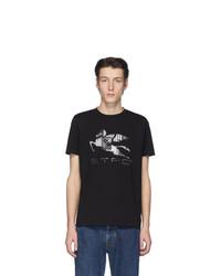 Camiseta con cuello circular estampada negra de Etro
