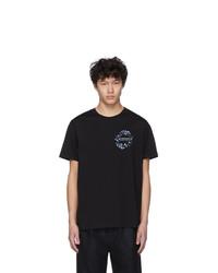 Camiseta con cuello circular estampada negra de Givenchy