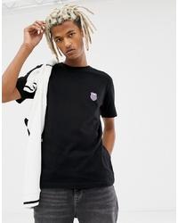 Camiseta con cuello circular estampada negra de K-Swiss